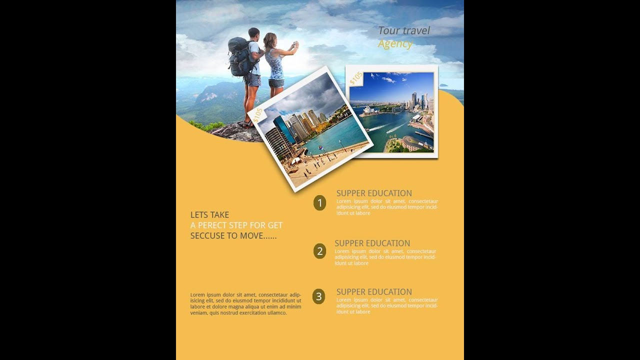 Photoshop Tutorial Travel Brochure Design  Youtube
