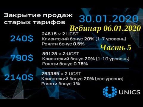 UNICS Новости Вебинар 6 января 2020 года Часть 5 Обновление продаж франшиз и токенов
