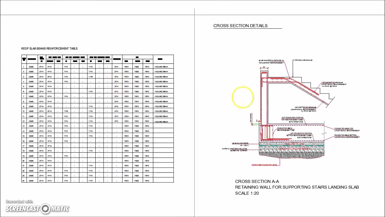 03 Complete structural design drawings for a reinforced concrete house