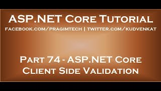 ASP NET Core client side validation