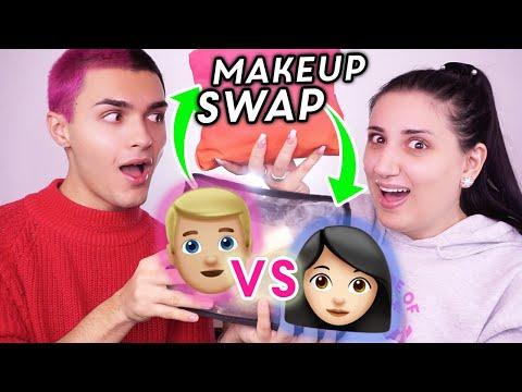 CI SCAMBIAMO I TRUCCHI 😱!!! Makeup Bag Swap w/ Andrea Cimatti 🔥 the Lady