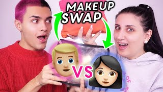 CI SCAMBIAMO I TRUCCHI 😱!!! Makeup Bag Swap w/ Andrea Cimatti 🔥 the Lady