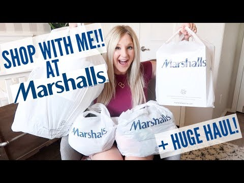 SHOP WITH ME AT MARSHALLS   CLOTHING, SHOES, and HOME DECOR HAUL!