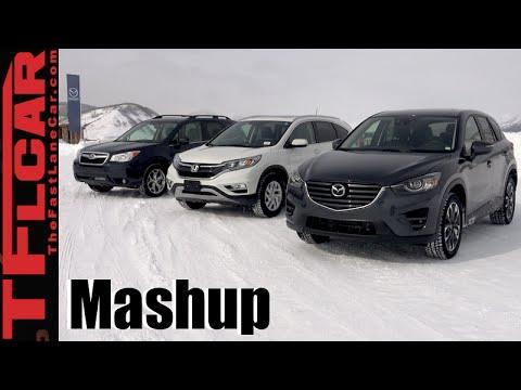 2016 Mazda Cx 5 Vs Honda Cr V Subaru Forester Awd Snow Traction Mashup Review