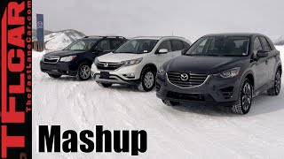 2016 Mazda CX-5 vs Honda CR-V vs Subaru Forester AWD Snow Traction Mashup Review