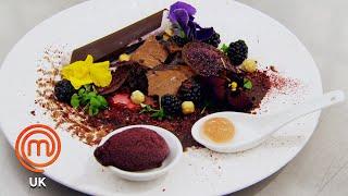 Childhood Inspired Blackberry & Chocolate Dessert   MasterChef UK   MasterChef World