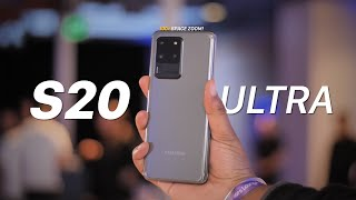Galaxy S20 Ultra Hands On: 100X Space Zoom!
