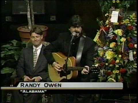 Randy Owen sings at Dale Earnhardt's Memorial Service