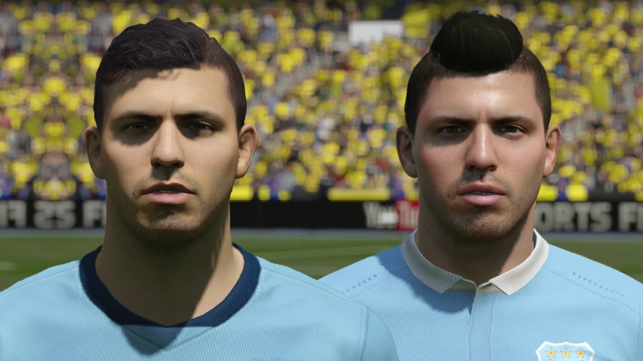 FIFA 16 Vs 15 Faces Manchester City Aguero Sterling Yaya Toure