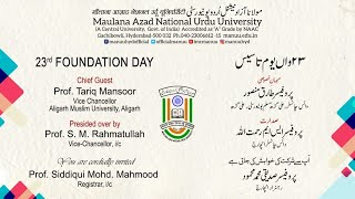 23rd Foundation Day || MANUU