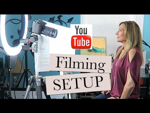 My Filming Setup: Behind the Scenes +Thoughts on Ring Lights & Blurring Filters