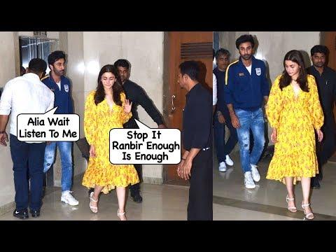 Alia Bhatt & Her BF Ranbir Kapoor's Big FIGHT Again On Valentines Day Made Alia Cry B@dly In Public