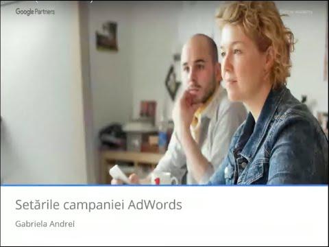 Setările campaniei AdWords (17.02.2016)
