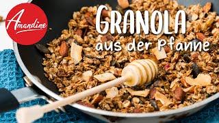 Granola selber machen aus der Pfanne | vegan oder mit Honig | Knuspermüsli Rezept