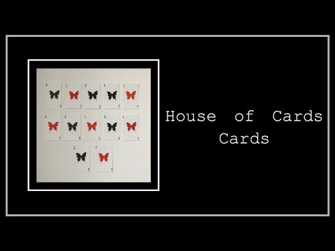 House Of Cards Themed Cards