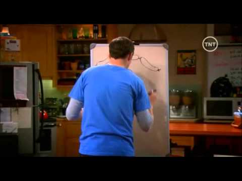 Sheldon Cooper jugando al pictionary. Sexta Temporada en español