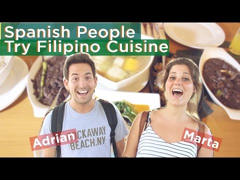 Spanish People Try Filipino Cuisine/필리핀 음식 도전기