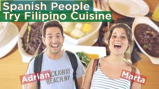 Spanish People Try Filipino Cuisine