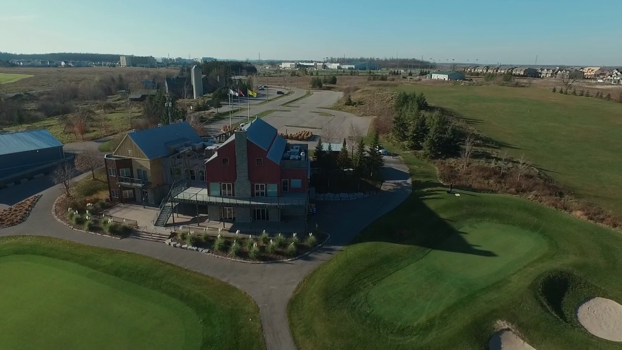 Spectactular Drone View Of Grey Silo Golf Course Waterloo