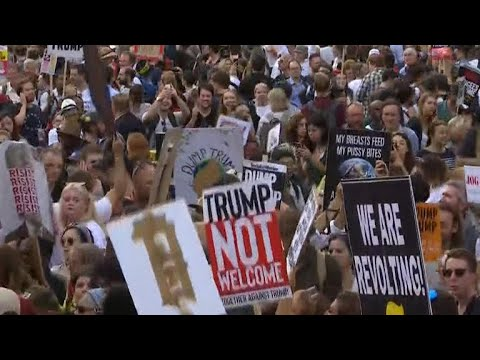 Thousands protest as Trump visits United Kingdom