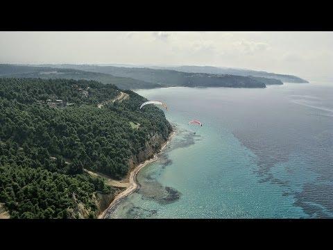 Around Kassandra from the air 2014