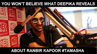 Tamasha - Ranbir Kapoor and Deepika Padukone at Red FM studio