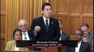 MP Shaun Chen - Speech on Bill C-18 Rouge National Urban Park Act - Nov 25, 2016