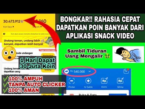 BONGKAR!! CARA CEPAT DAPATKAN KOIN BANYAK DARI APLIKASI SNACK VIDEO