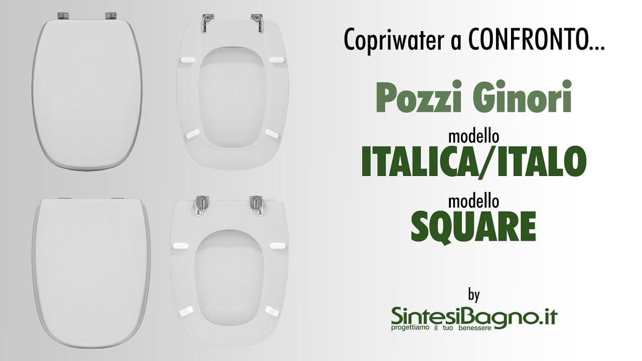Sedile Per Water Pozzi Ginori.Copriwater Pozzi Ginori Italica Italo Vs Square Sedili Dedicati Youtube