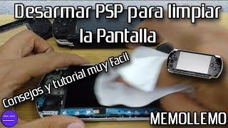 Limpiar pantalla de PSP Fat Slim 3000 | Consejos |