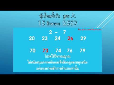 หุ้นไทยสูตร A   22 สิงหาคม 2559
