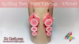 DIY: Beautiful Quilling Paper Party Wear Earrings -Paper Quilling Jewellery #DiwaliSpecial