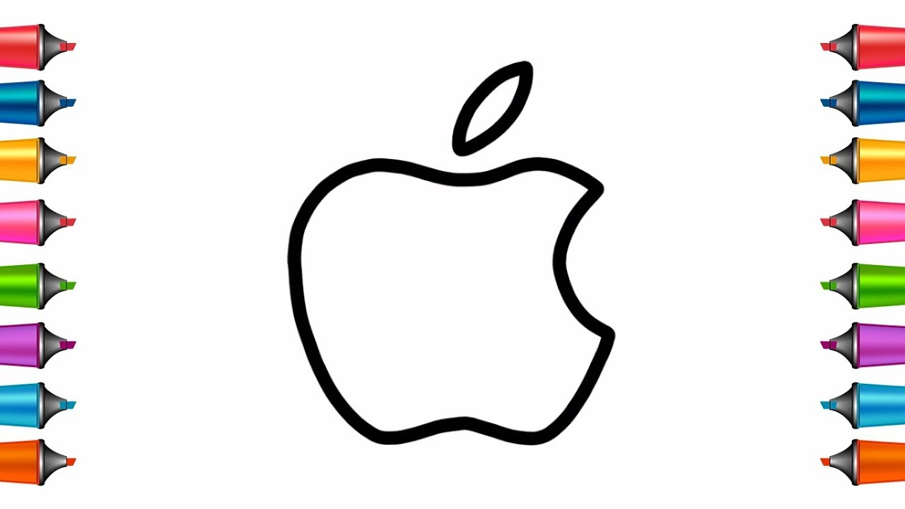 How To Draw Apple Logo Very Easily Step By Step Learn Drawing