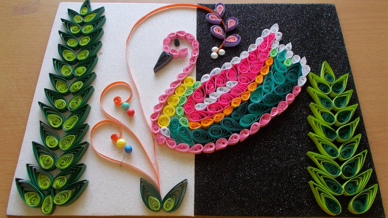 DIY Home Decor With Paper Quilling Art Amazing Room Bird Pattern