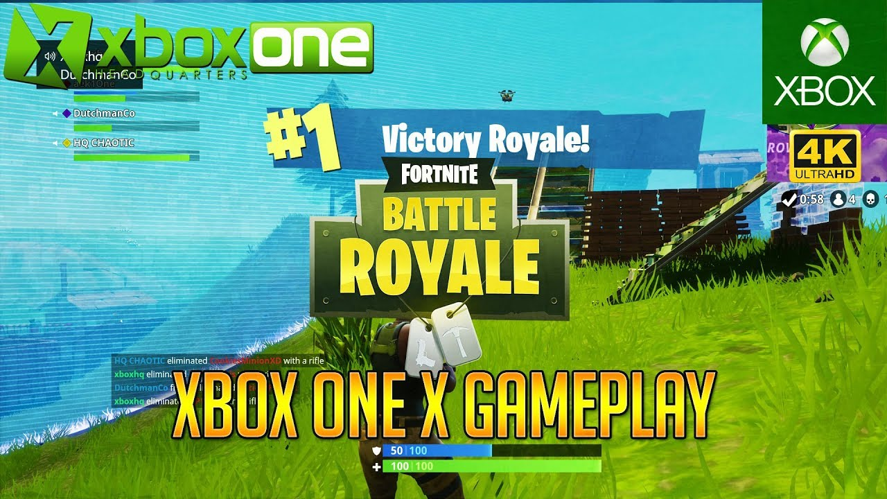 4k Fortnite Xbox One X Gameplay Victory Royale Win In Ultra Hd