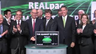 REALpac opens Toronto Stock Exchange, September 8, 2014.