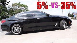 20% Tint -VS- 35% Tint on a 2018 BMW 5 Series @ (Winning Window Tints)