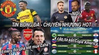 Tin bóng đá|Chuyển nhượng 25/06|MU từ chối đổi Pogba lấy Neymar, điều kiện để chiêu mộ Sancho #tinmu