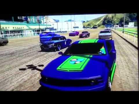 GTA V NASCAR Series race at Eldora Speedway
