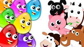 Farm Animals | Crazy Eggs | Cartoon Videos For Children by Kids Tv