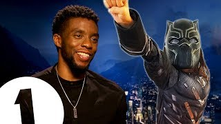 """You're like a kid!"" Black Panther's Chadwick Boseman on becoming a superhero."