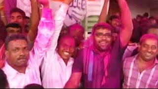 Colours of Holi as Prithviraj Chavan wins Karad South