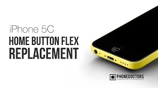 Iphone 5c Home Button Ribbon Flex Cable Replacement Part