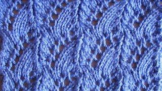 Ажурные вертикальные дорожки Вязание спицами Видеоурок 79