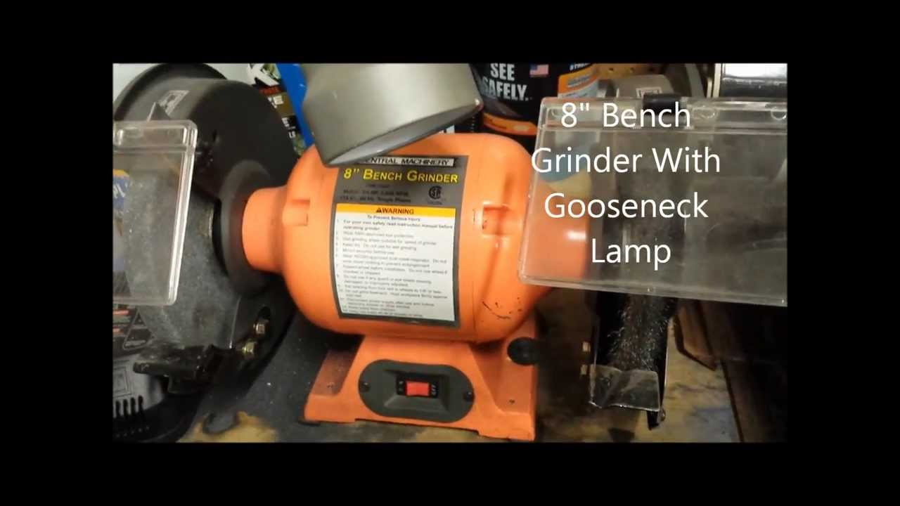 Harbor Freight 8 Inch Bench Grinder Youtube