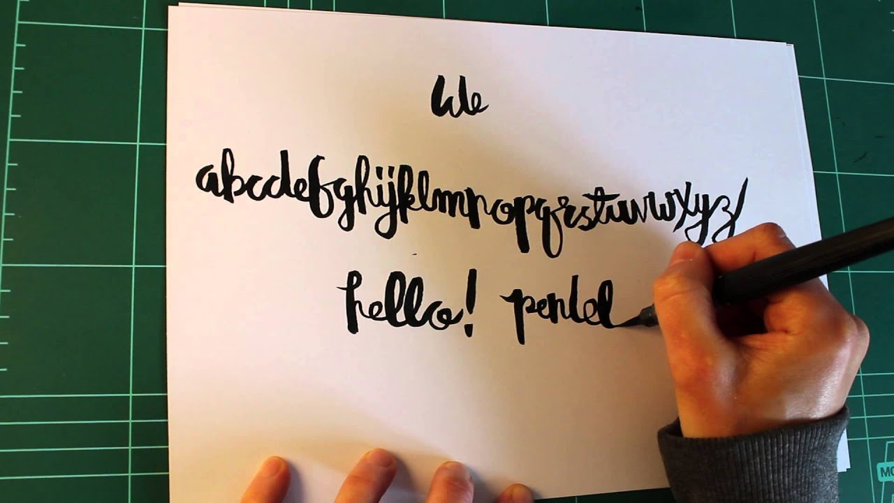 Hand lettering tutorial pentel color brush youtube