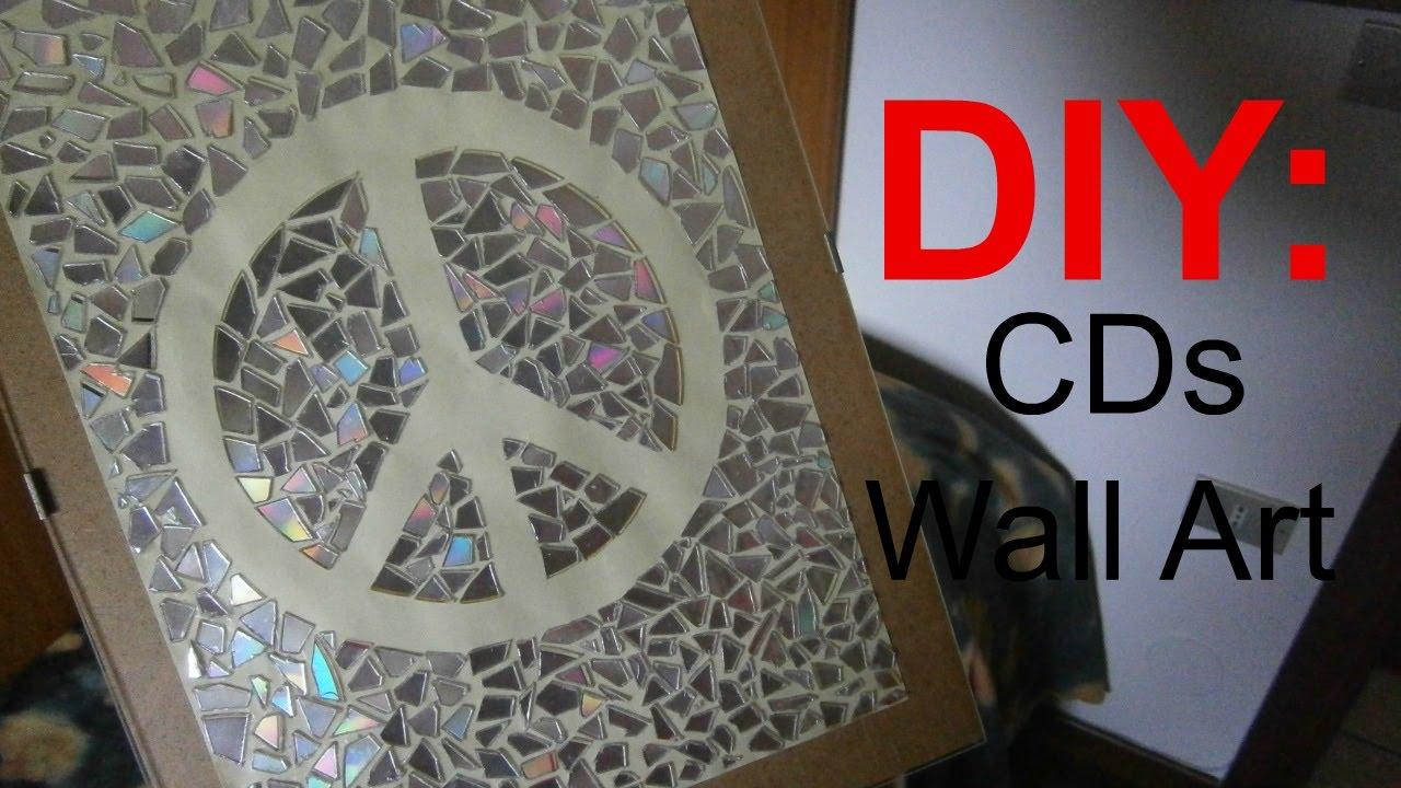 Diy Wall Decoration With Cd : Diy wall art with old cds heychiara