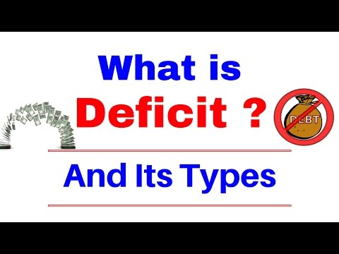 What is Deficit ( घाटा ) ? and Its Types [ In Hindi ]  Part 4.3