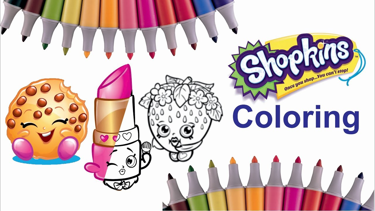 Shopkins Characters Coloring Page Part 1