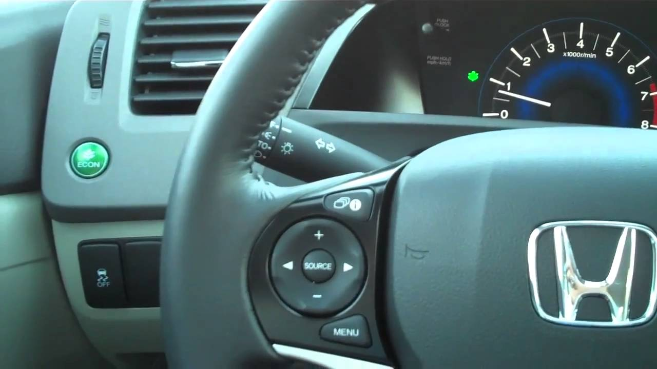 Honda Civic Econ Button >> 2012 Honda Civic ECON Button - Allen Smith, Holmes Honda 318.212.1477 - YouTube